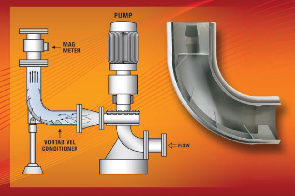 Vortab Elbow Flow Conditioner Removes Swirl For Accurate Mag Meter Measurement